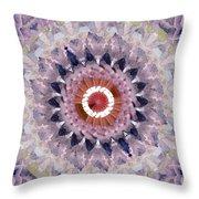 Purple Mosaic Mandala - Abstract Art By Linda Woods Throw Pillow