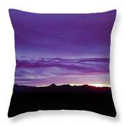 Purple Mountain Sunset Throw Pillow