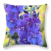 Purple Mullein Throw Pillow