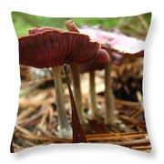 Purple Mushroom 2 Throw Pillow