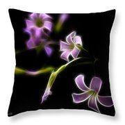 Purple On Black Throw Pillow