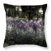 Purple On The Forest Floor Throw Pillow