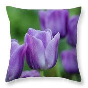 Purple Ones Throw Pillow