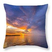 Purple Orange Dream Sunset Throw Pillow