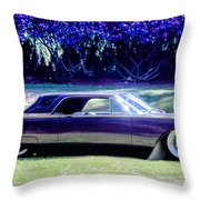 Purple Overtones Throw Pillow
