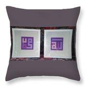 Purple Pair Throw Pillow