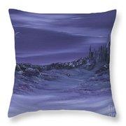 Purple Paradise Sold Throw Pillow