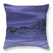 Purple Paradise Sold Throw Pillow by Cynthia Adams