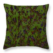 Purple Paragon In Green  Throw Pillow
