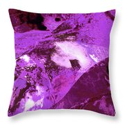 Purple Passion Abstract Throw Pillow