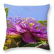 Purple Passion Flower  Throw Pillow