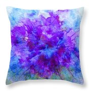 Purple Passion Hydrangea  Throw Pillow