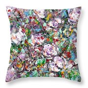 Purple Passions Throw Pillow