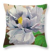 Purple Peony Throw Pillow