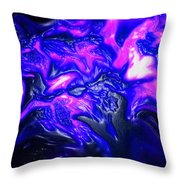 Purple People Eater Throw Pillow
