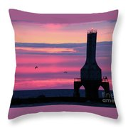 Purple Perfection In Port Throw Pillow