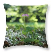 Purple Persists Throw Pillow