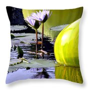 Purple Petals And Glass Throw Pillow