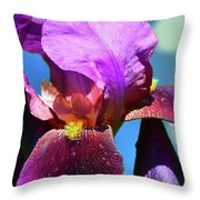 Purple Petals Four  Throw Pillow