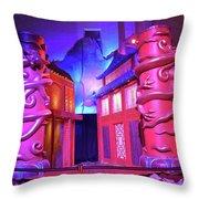 Purple Pink Fantasy Throw Pillow