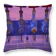 Purple Pipes Throw Pillow