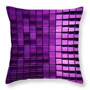 Purple Pixels Throw Pillow