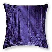 Purple Planet Throw Pillow