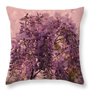 Purple Pleasures Throw Pillow