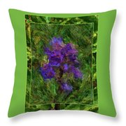Purple Png Flower Throw Pillow