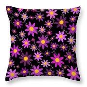 Purple Polka Throw Pillow