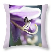 Purple Pollenate Throw Pillow