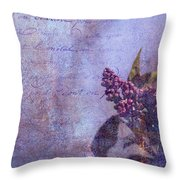 Purple Prose Throw Pillow