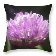 Purple Puff Throw Pillow