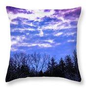 Purple Puffs Throw Pillow