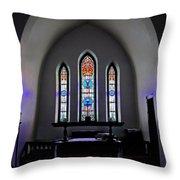 Purple Pulpit Throw Pillow