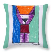 Purple Puppy Throw Pillow