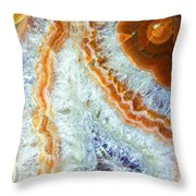 Purple Quartz With Orange Rust Throw Pillow