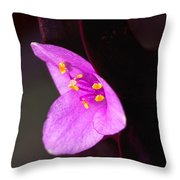 Purple Queen Throw Pillow