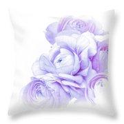 Purple Ranunculus Throw Pillow