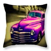 Purple Ride Throw Pillow