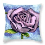 Purple Rose Throw Pillow by Robert Morin
