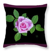 Purple Rosebud2 Cutout Throw Pillow