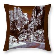 Purple Mount Rushmore Vision Throw Pillow