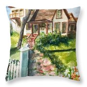 Purple Sage Inn Throw Pillow