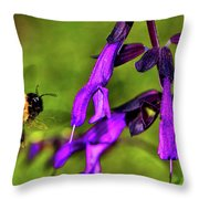 Purple Salvia 002 Throw Pillow