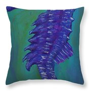 Purple Seahorse Throw Pillow