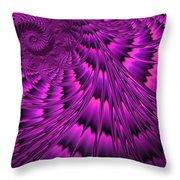 Purple Shell Throw Pillow