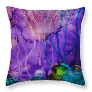 Purple Silence Throw Pillow