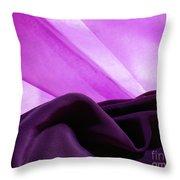 Purple Silk Throw Pillow