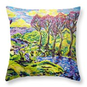Purple Skies Seven Throw Pillow